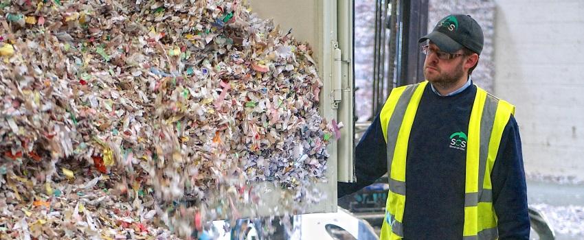 Paper shredding process